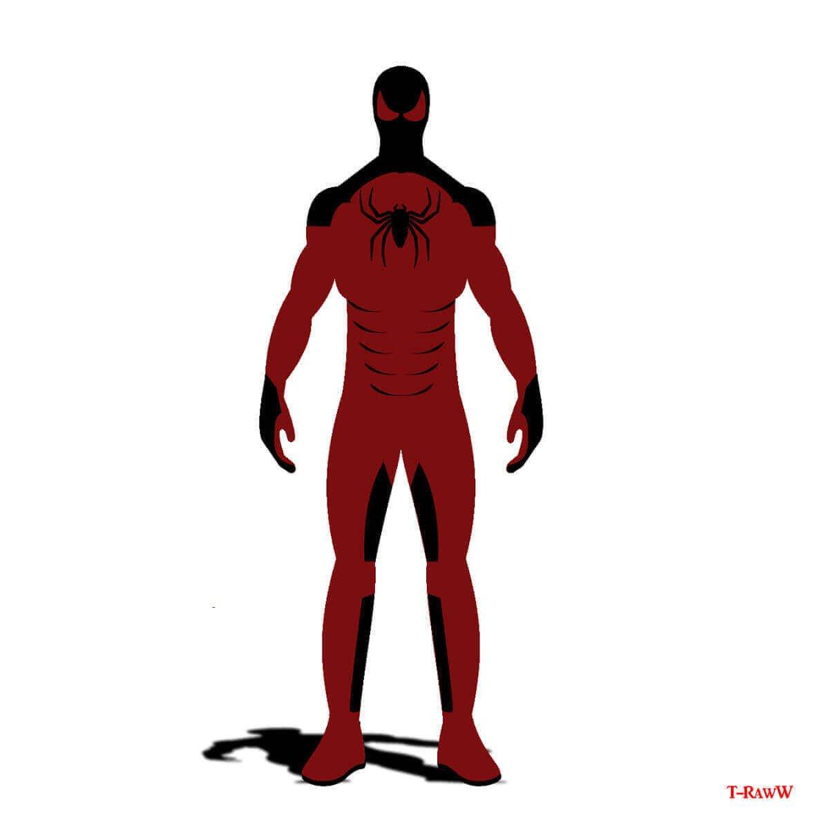 красно-черный вариант одеяния супергероя
