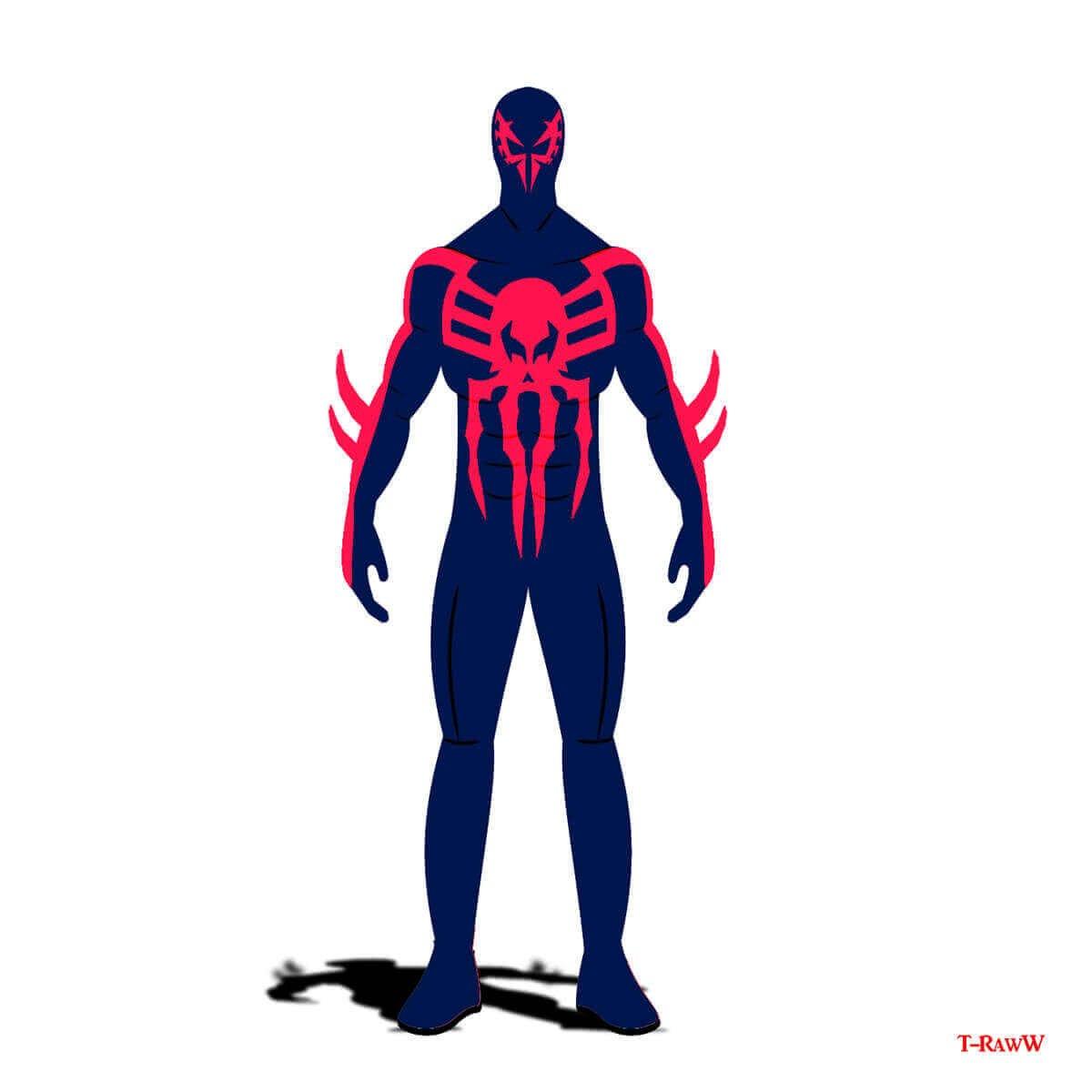 Сине-розовый наряд Спайдермена