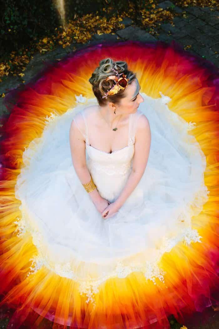 Потрясающее платье для свадьбы сделанное за 61 часов