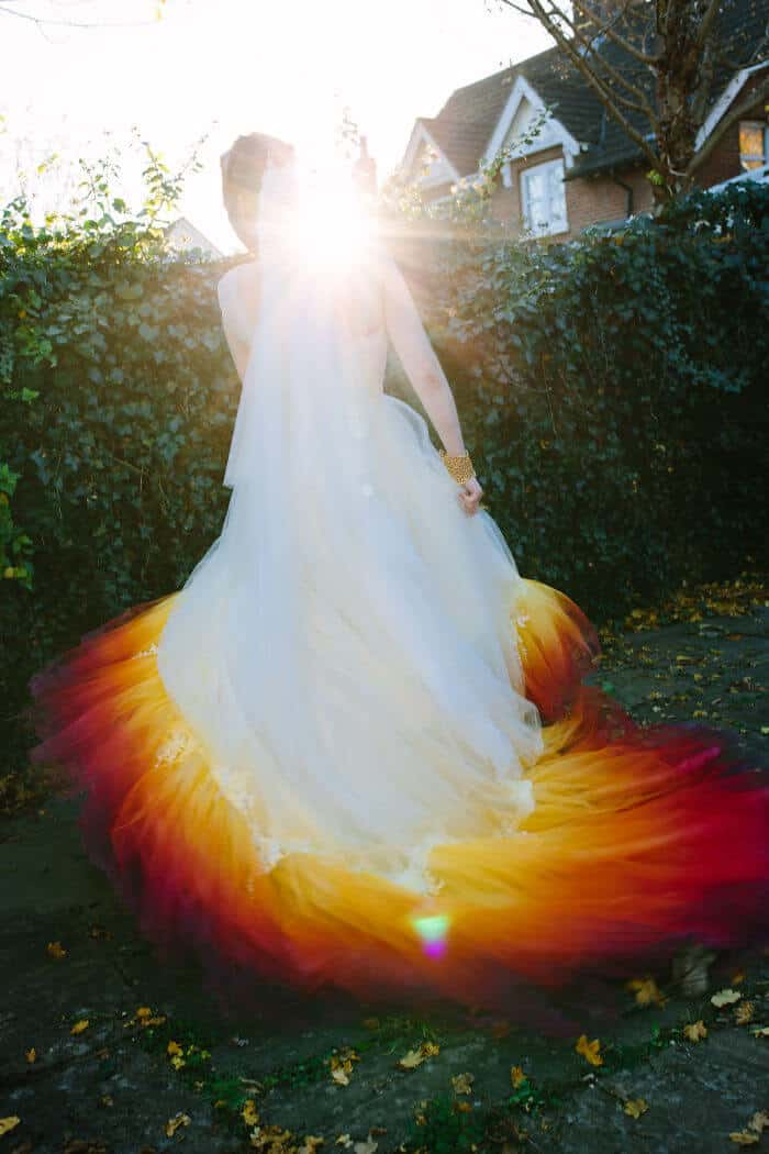 Оригинальное свадебное платье своими руками