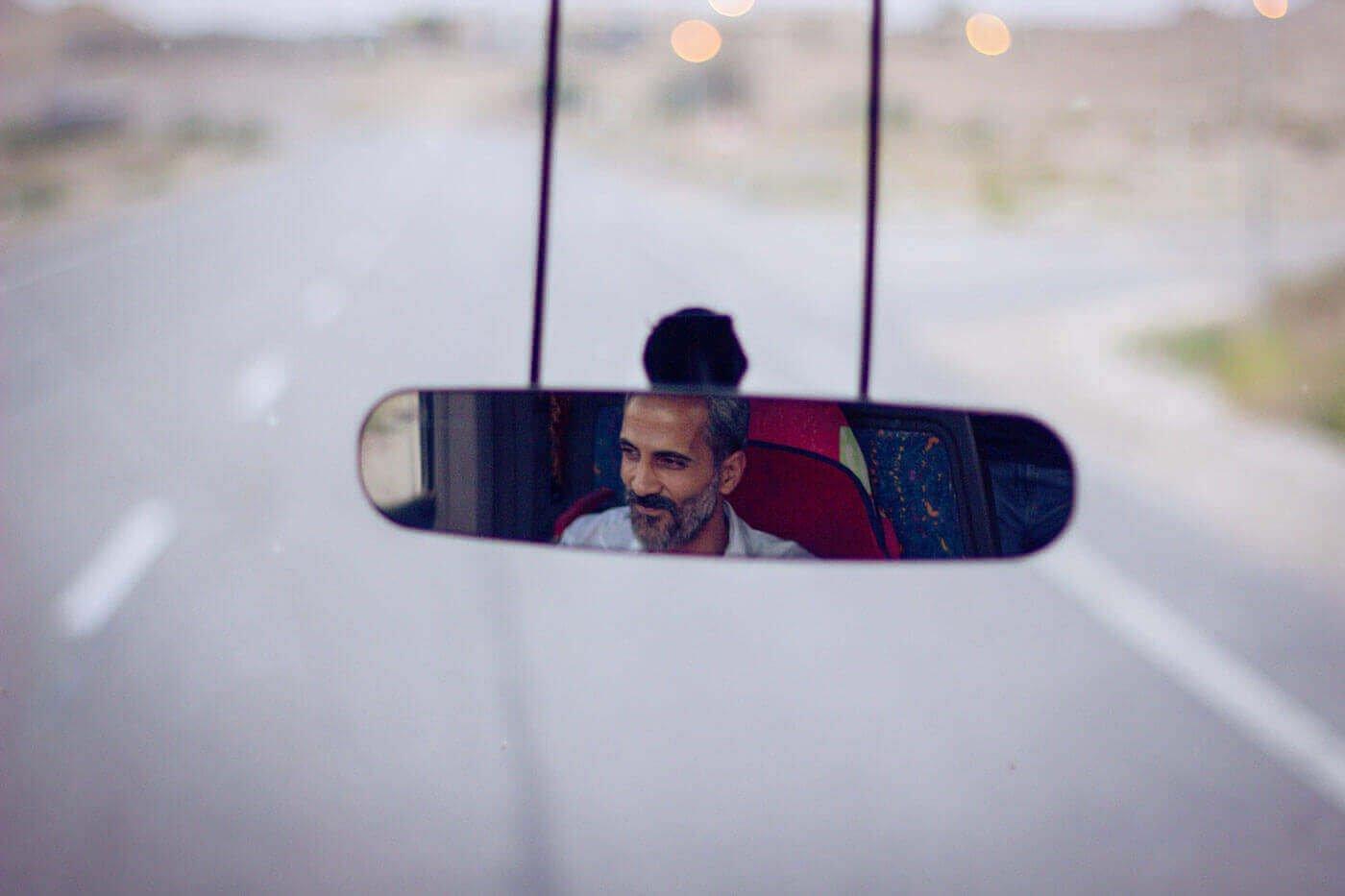Счастливый водитель.