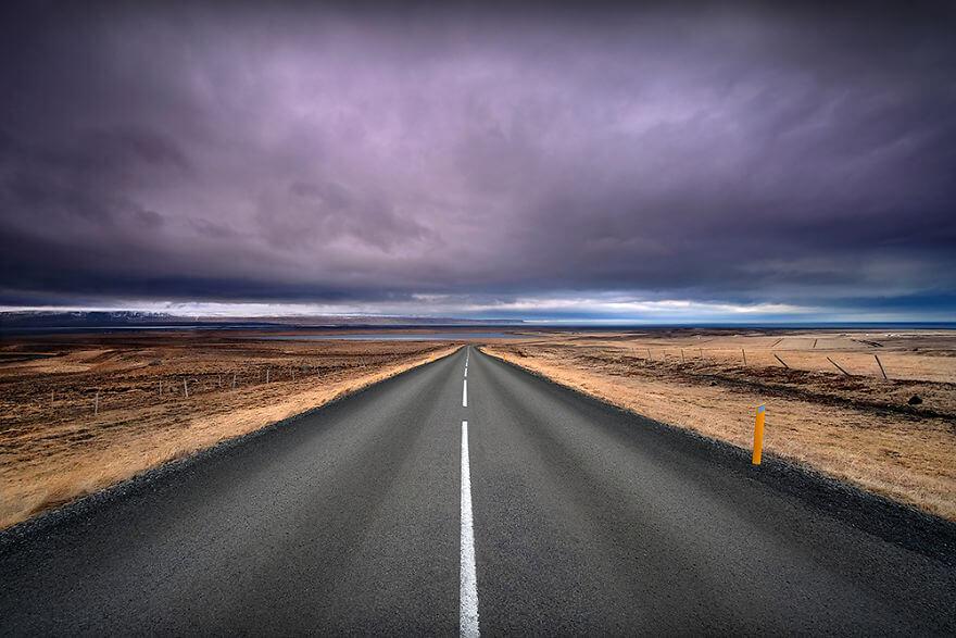 красота северного сияния в Исландии v