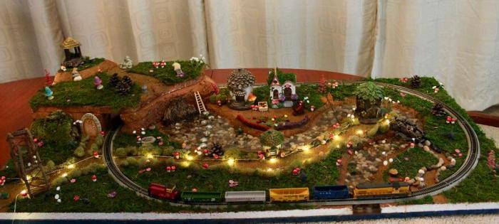 Макет волшебной железной дороги для детей всех возрастов