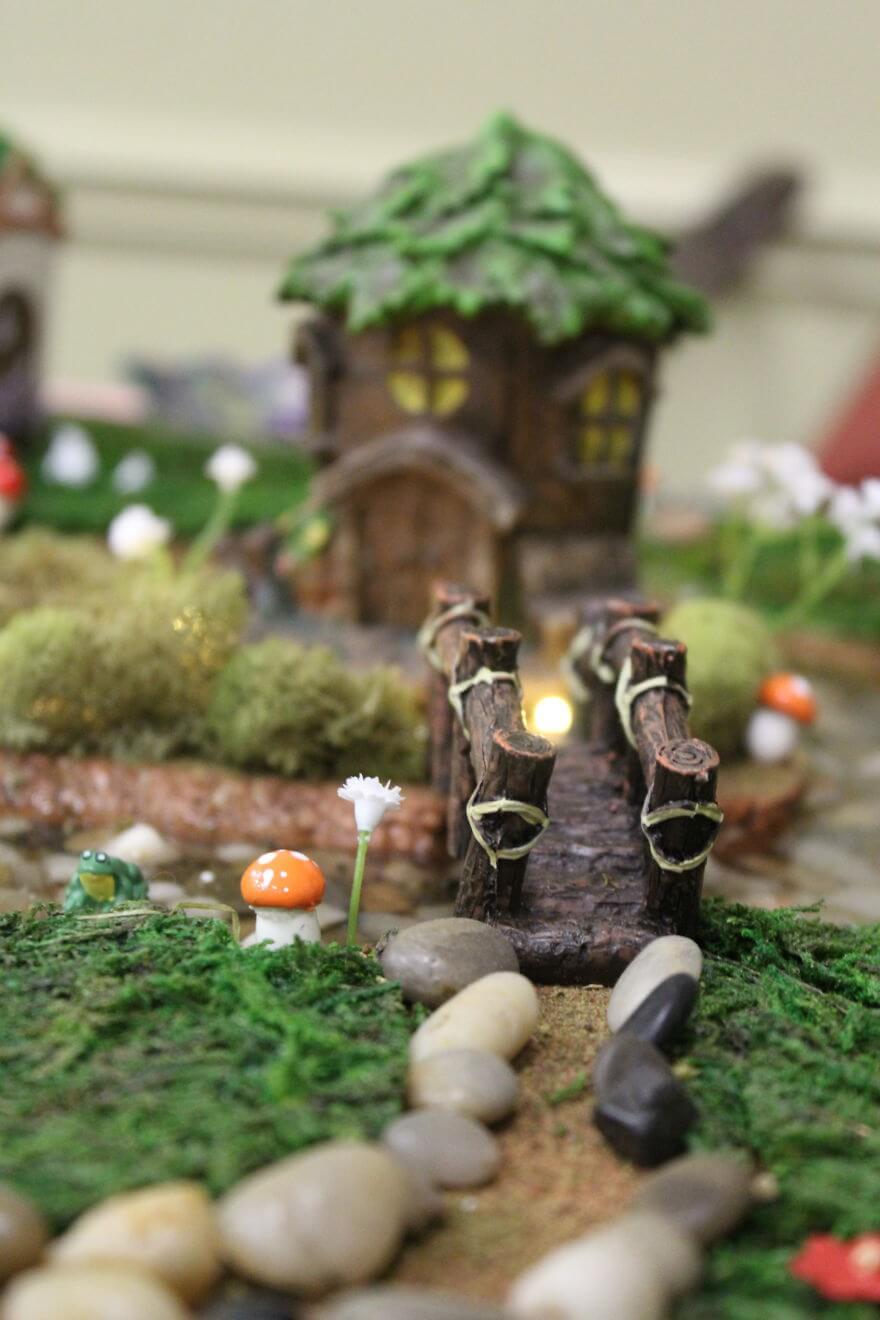 макет волшебной железной дороги