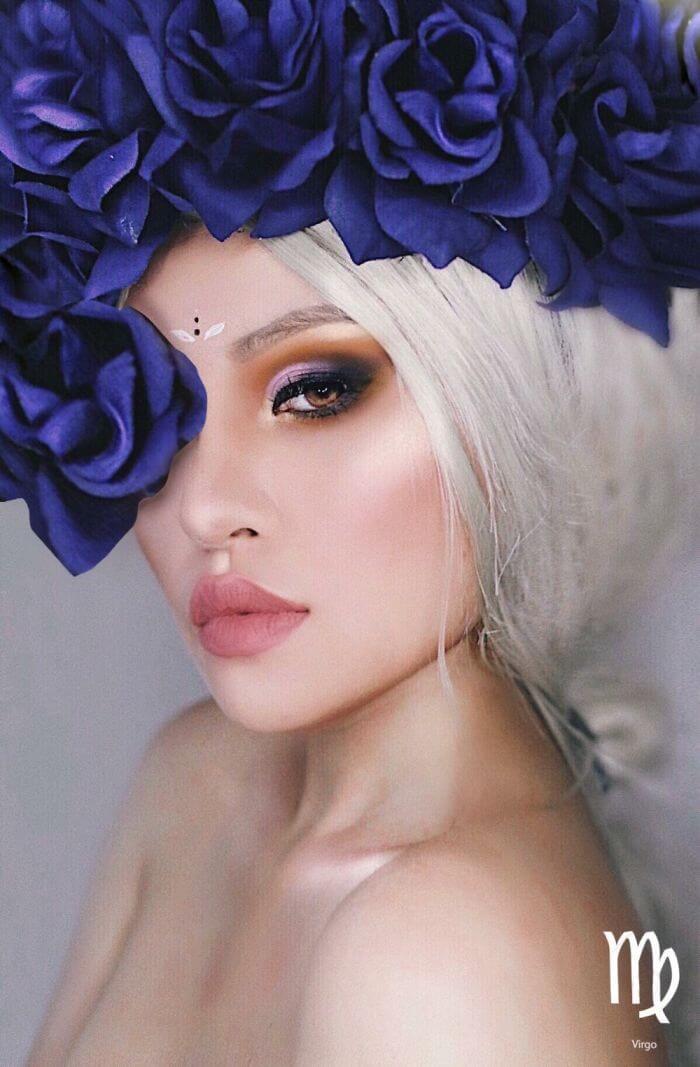 макияж вдохновленный знаком Дева