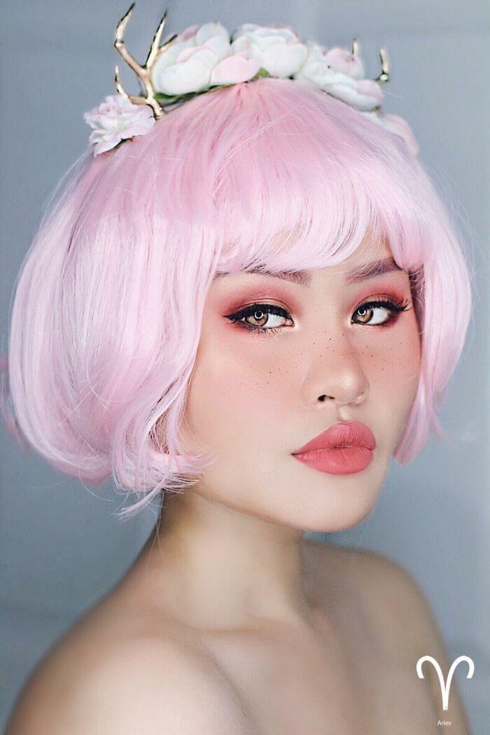 макияж вдохновленный знаком Овен