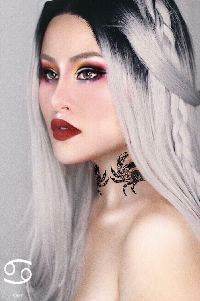 макияж вдохновленный знаком Рак