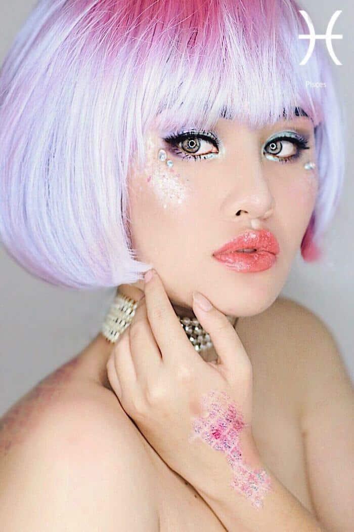 макияж вдохновленный знаком Рыбы