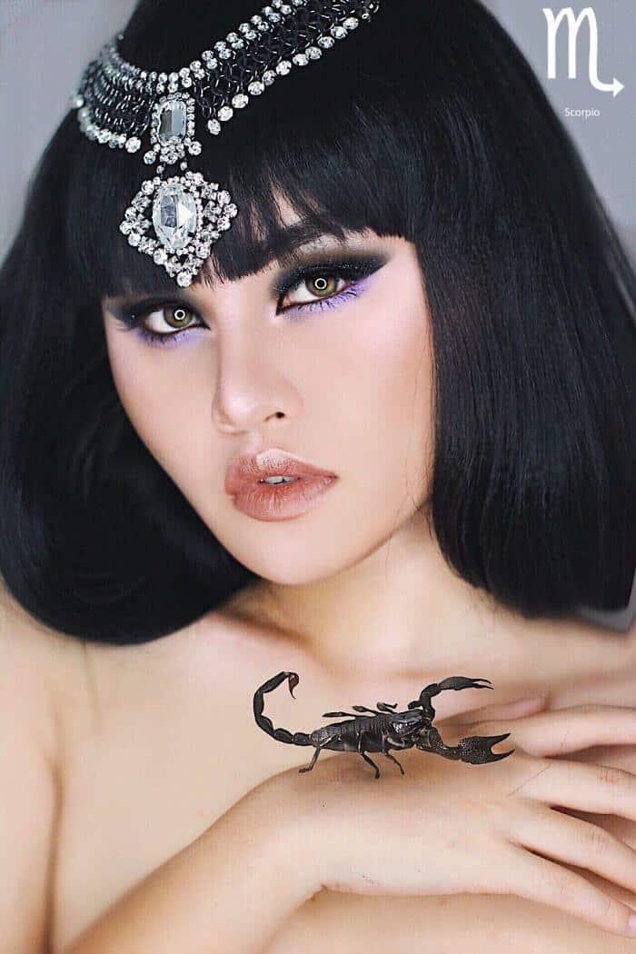 макияж вдохновленный знаком Скорпион