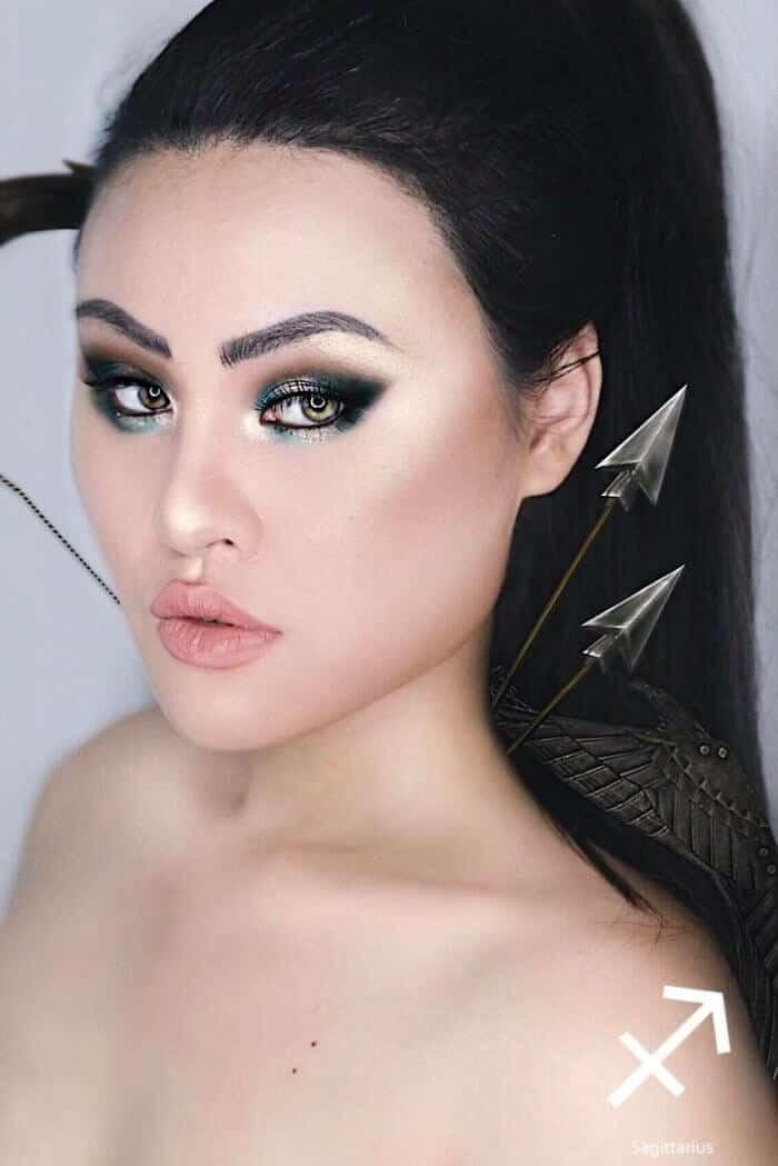 макияж вдохновленный знаком Стрелец