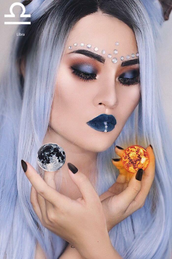 макияж вдохновленный знаком Весы