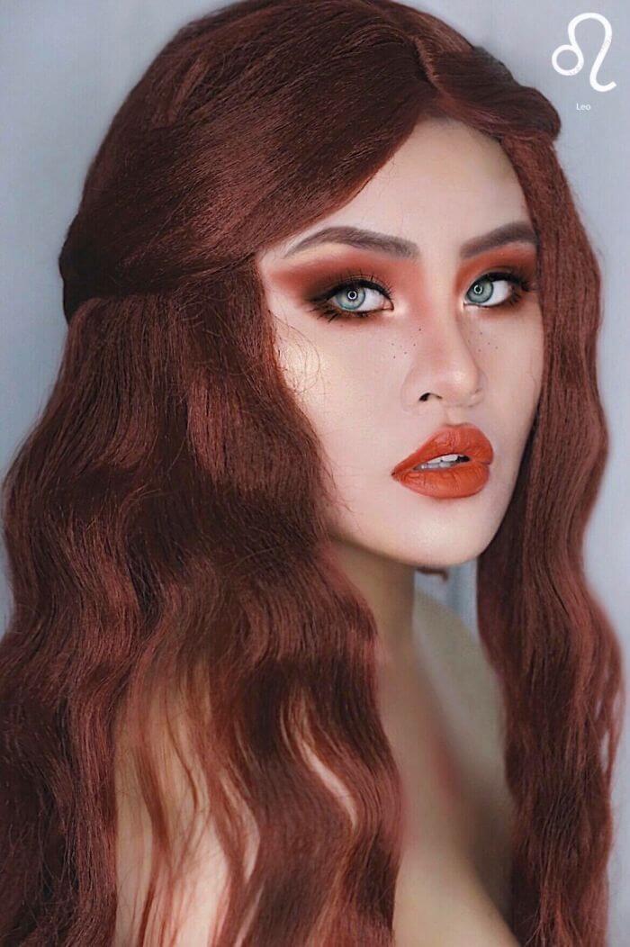 макияж вдохновленный знаком лев