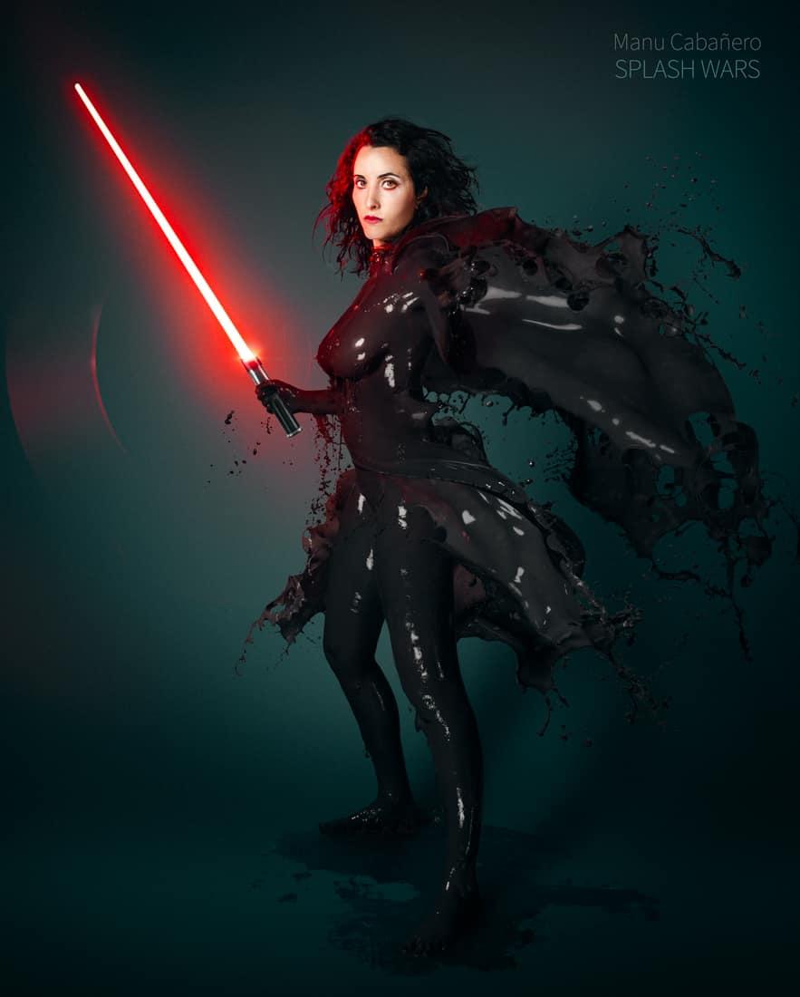 откровенные фото девушек в «жидких» костюмах, Звездные войны