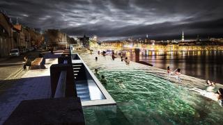 публичный пейзажный бассейн вдоль Балтийского моря