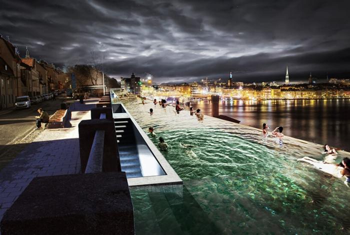 UMA представляет публичный пейзажный бассейн в Стокгольме, вдоль Балтийского моря