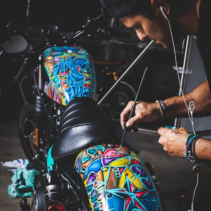 рисунок на корпус мотоцикла