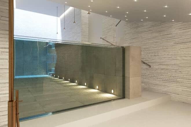 дизайн бассейнов в 2017 году, Больше стекла