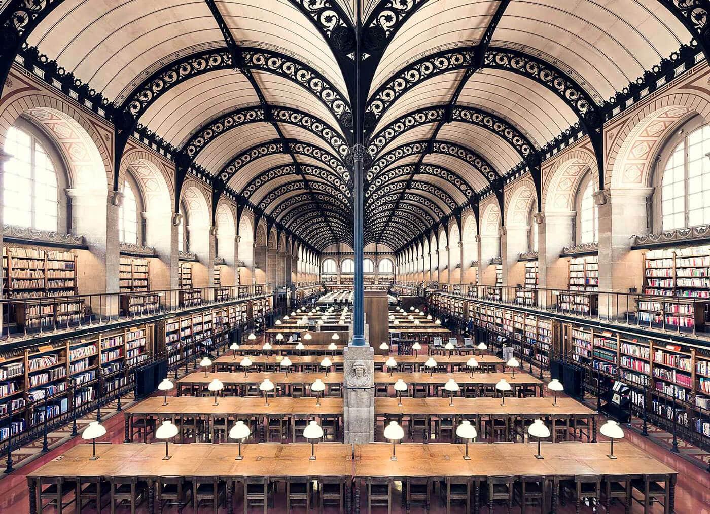 Библиотека Сен-Женевьев, Париж, 1850