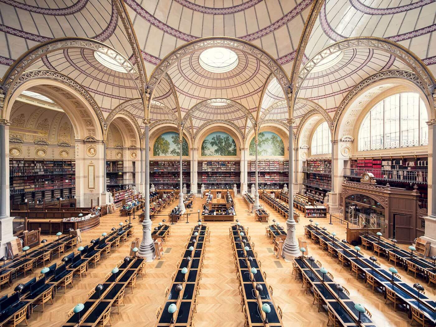 Национальная библиотека Франции, зал Лабруста, Париж, 1868