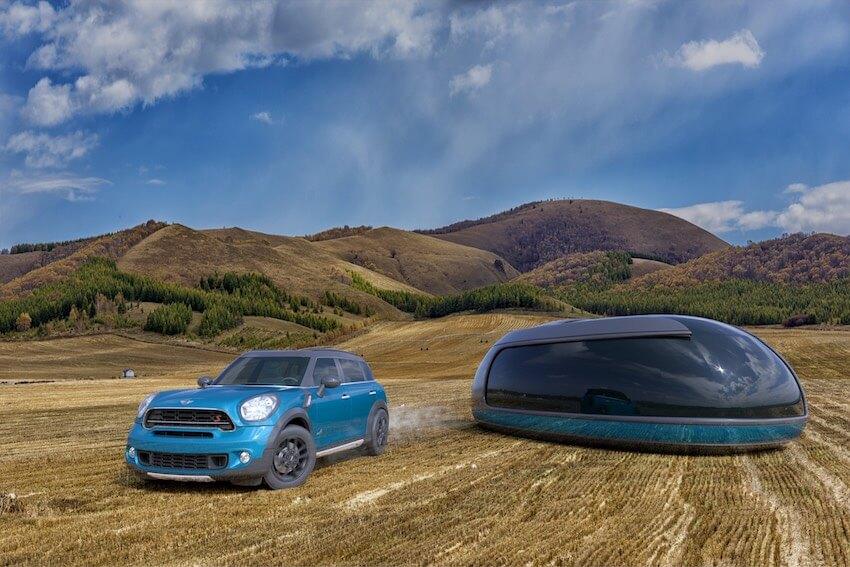 Концепция дома на колесах от Mini Cooper
