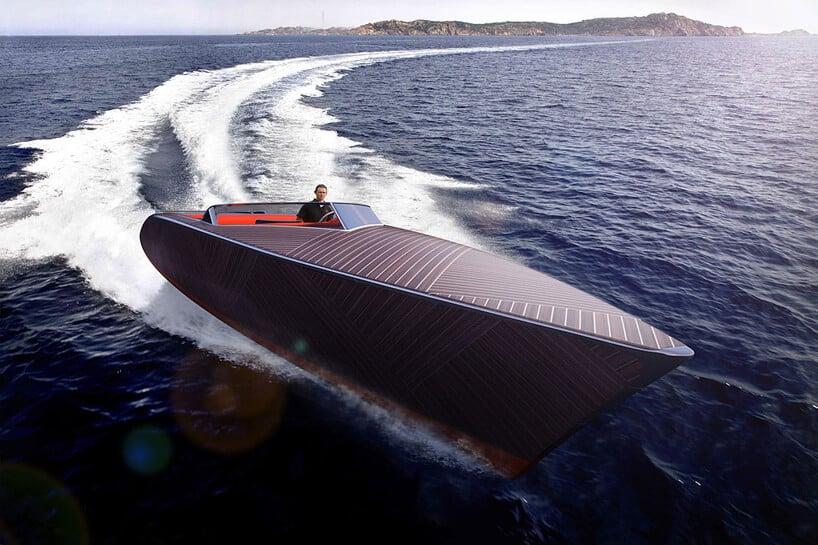 электрическая лодка Zebra с деревянным корпусом