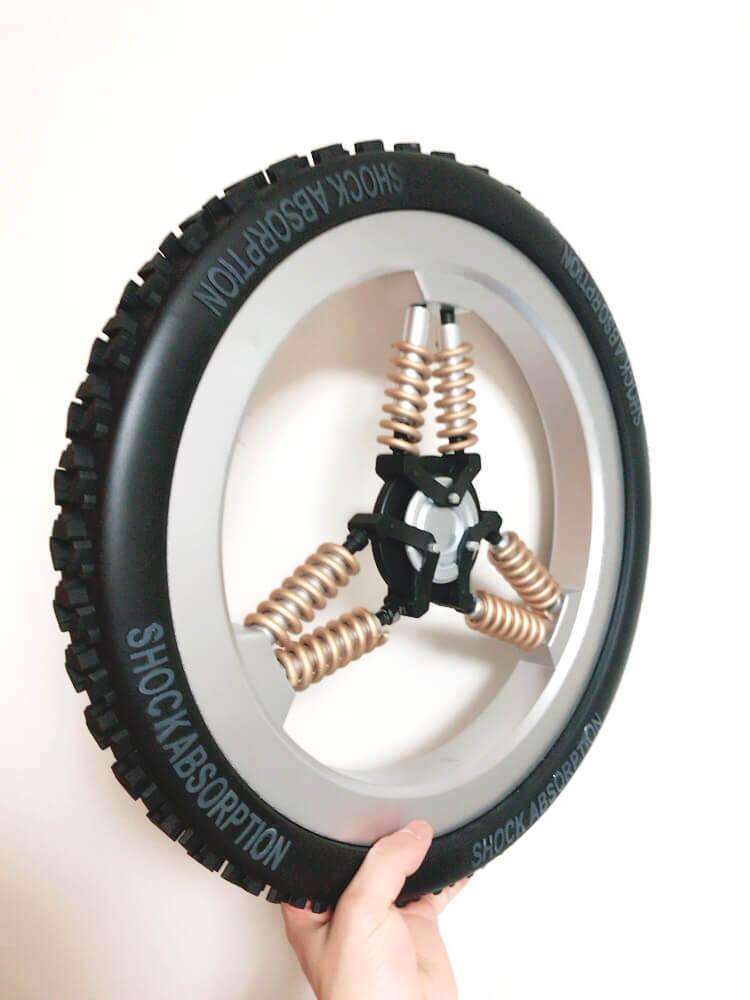 концепт амортизирующего колеса