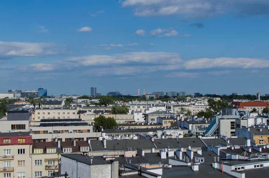 красивые фотографии Варшавы с обыкновенного балкона
