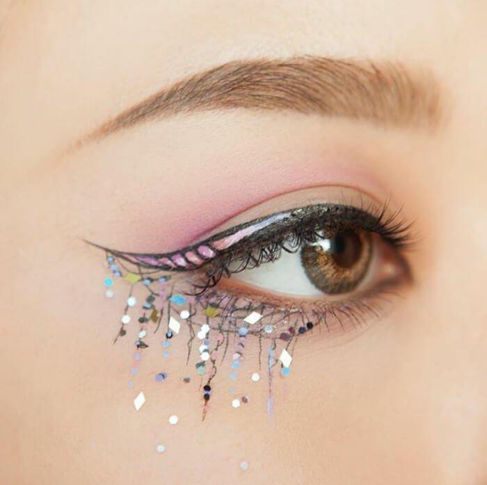 макияж глаз в форме рога единорога, фото 1