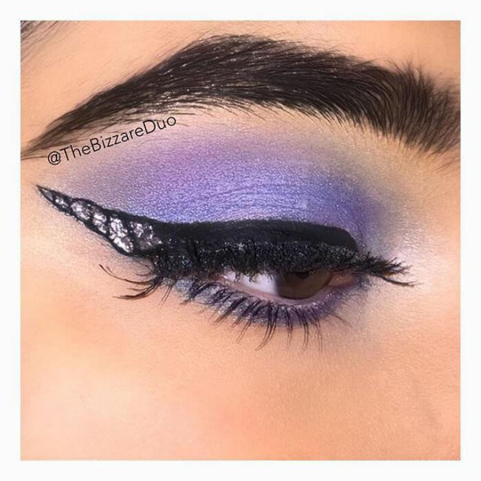 макияж глаз в форме рога единорога, фото 14
