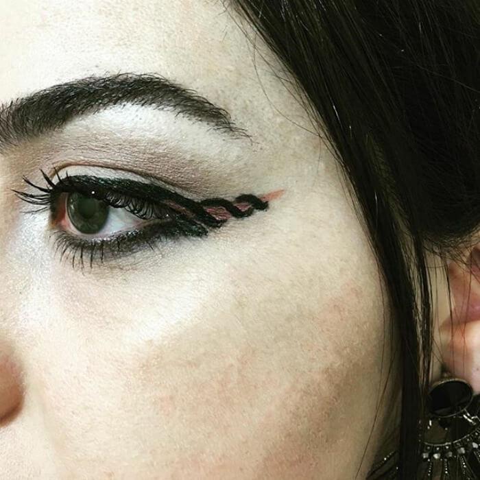 макияж глаз в форме рога единорога, фото 15