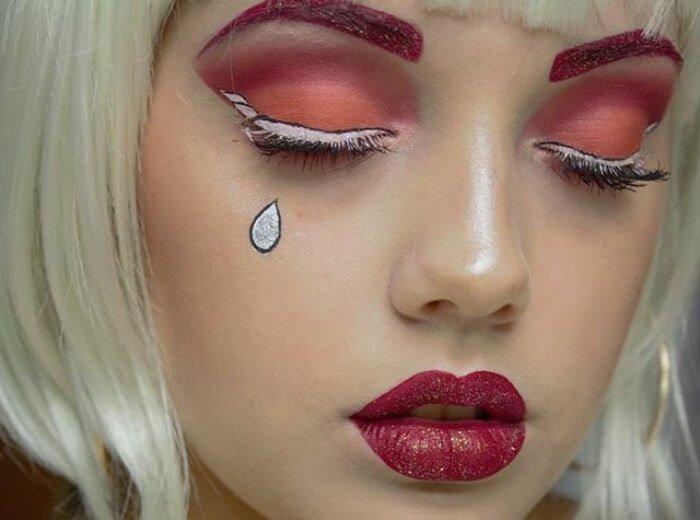 макияж глаз в форме рога единорога, фото 16