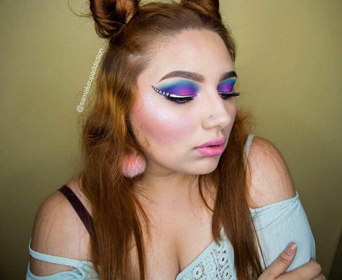 макияж глаз в форме рога единорога, фото 19