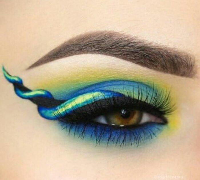 макияж глаз в форме рога единорога, фото 2