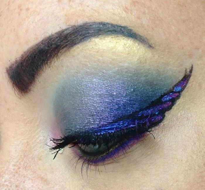 макияж глаз в форме рога единорога, фото 20