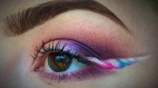 макияж глаз в форме рога единорога, фото 4