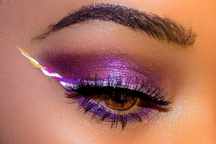 макияж глаз в форме рога единорога, фото 6
