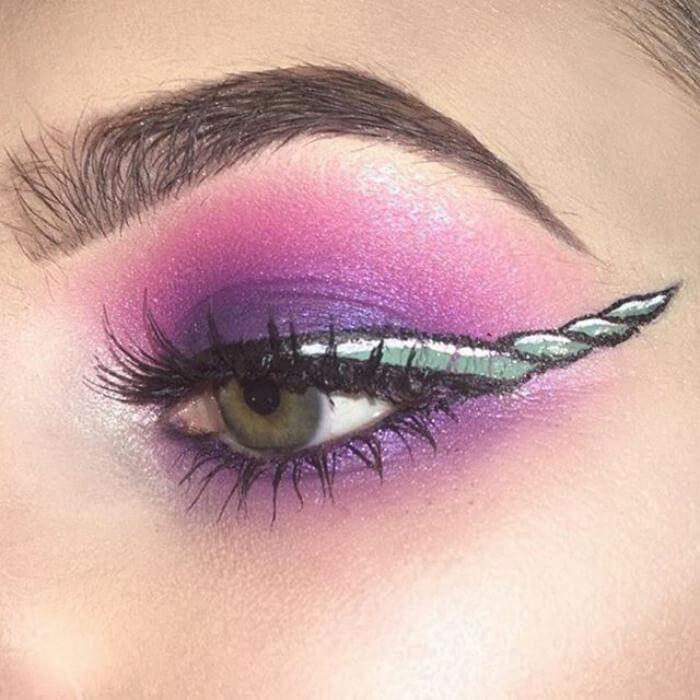 макияж глаз в форме рога единорога, фото 7