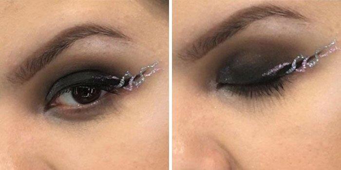 макияж глаз в форме рога единорога, фото 9
