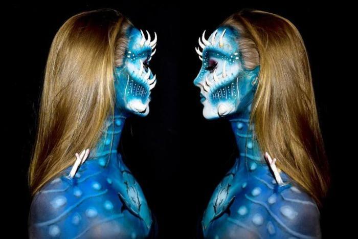 17 летняя девушка создает мифических существ при помощи мейкапа