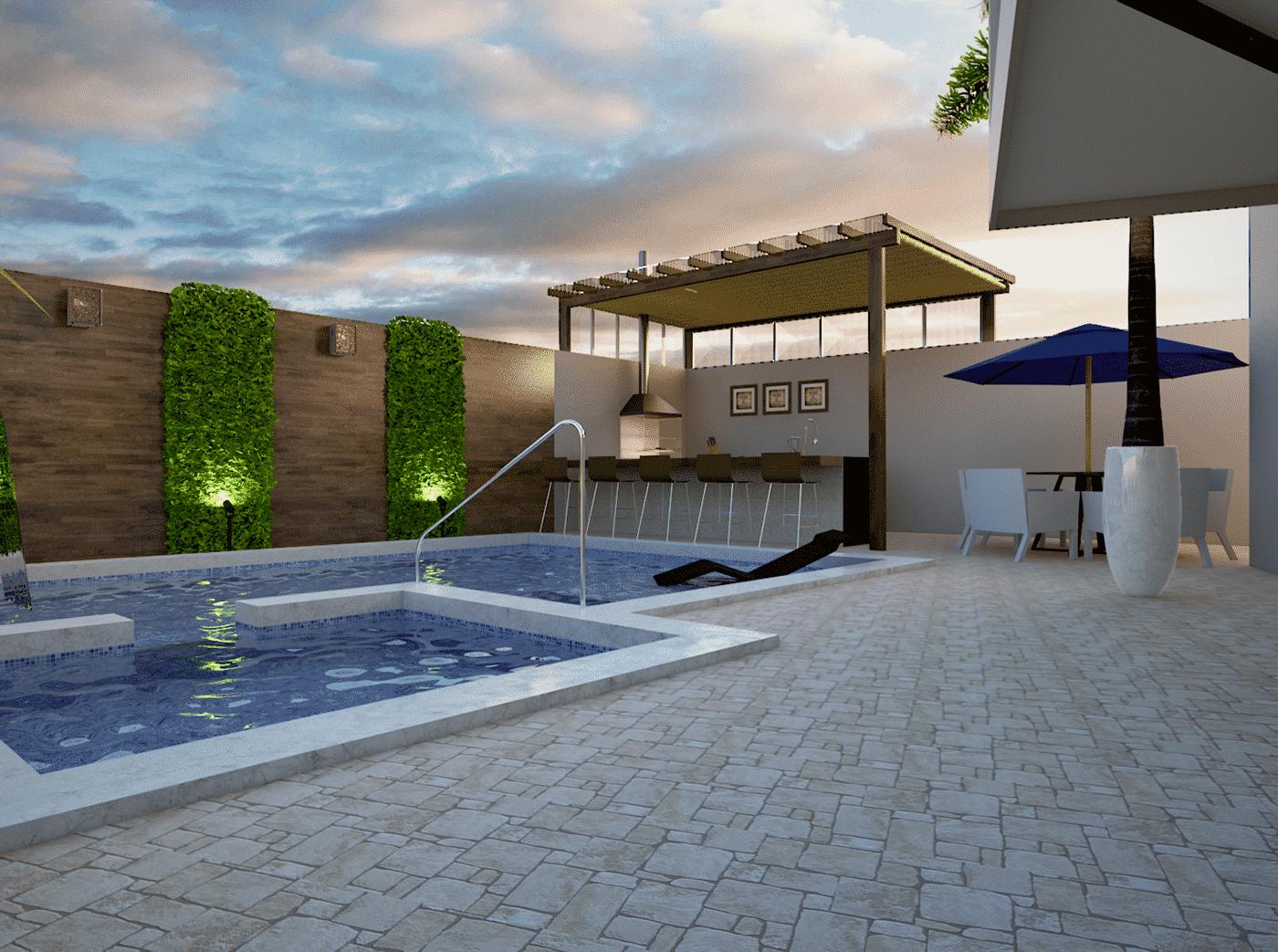 открытый бассейн на даче, фото 1