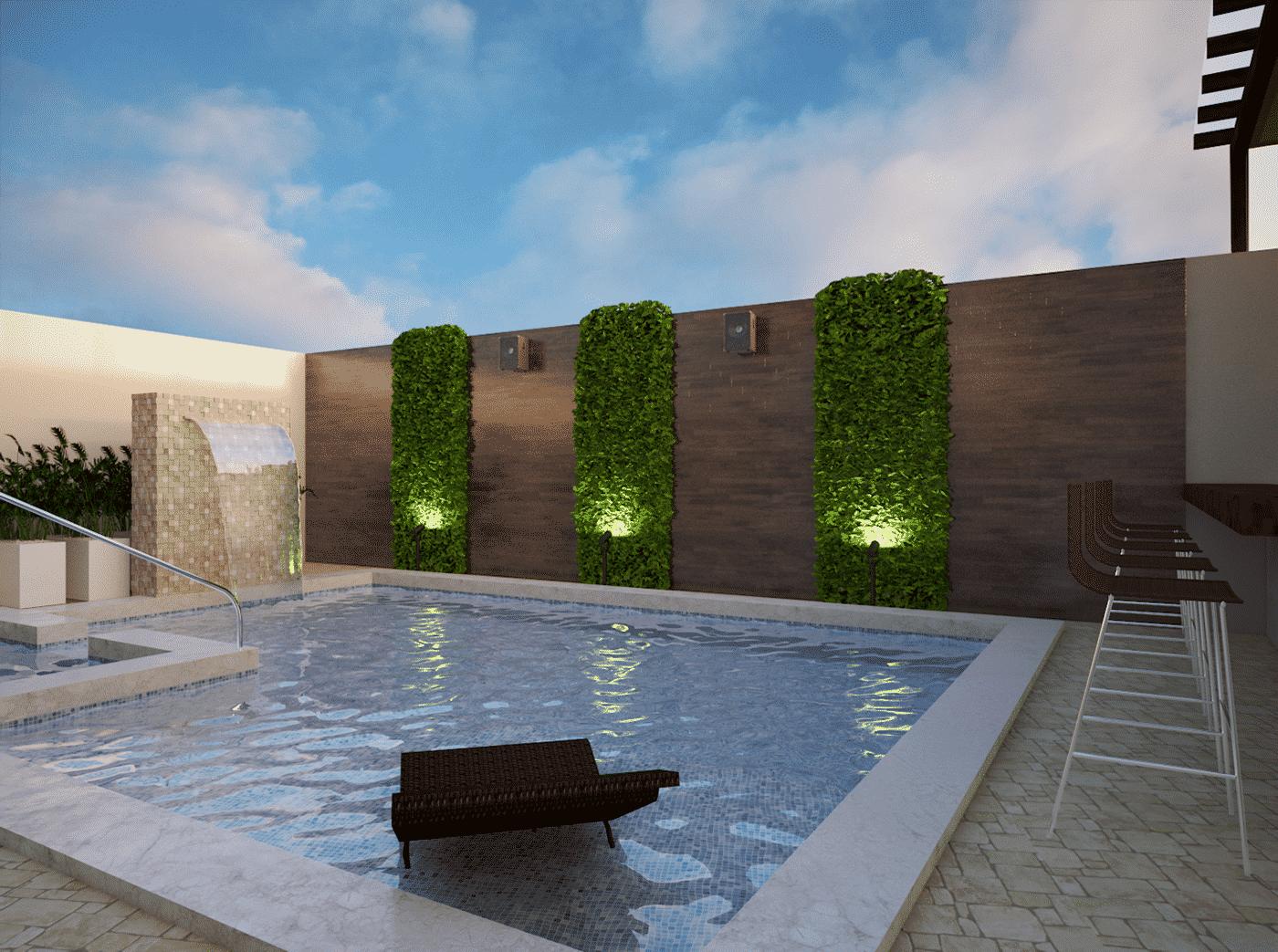открытый бассейн на даче, фото 3