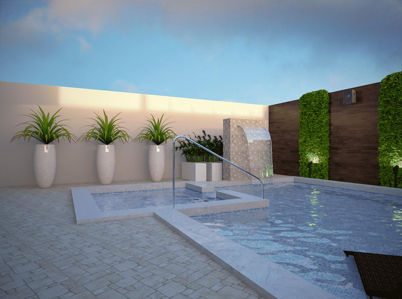 открытый бассейн на даче, фото 5