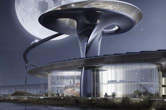Научно-фантастический кампус в Калифорнии Faraday Future