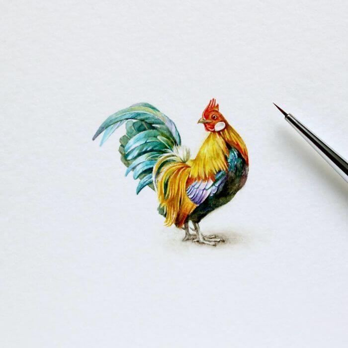 Акварельные миниатюры – источник вдохновения для художников