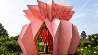 Розовый скульптурный павильон Look! Look! Look!, фото 1