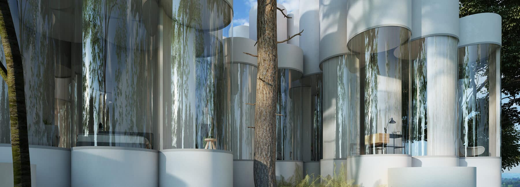 Цилиндрический дом посреди леса, фото 11
