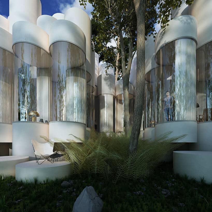 Цилиндрический дом посреди леса, фото 7
