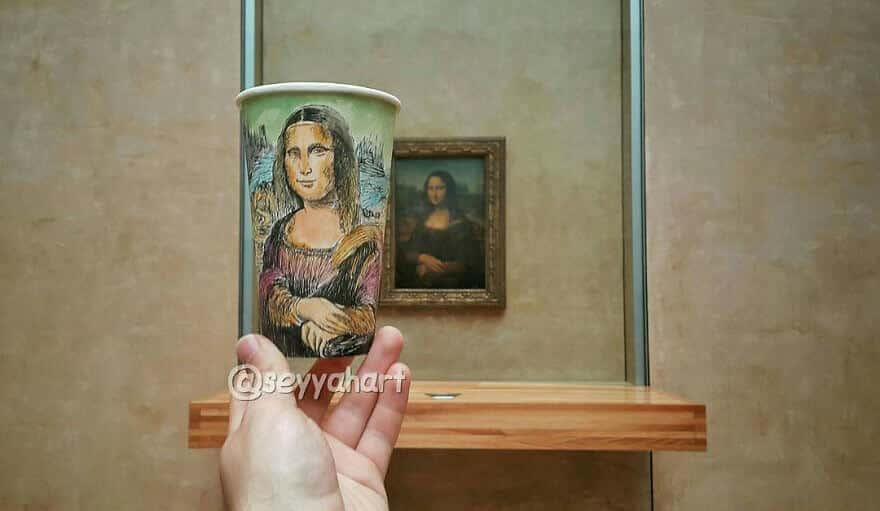 достопримечательности мира в рисунках на стаканчиках, фото 7