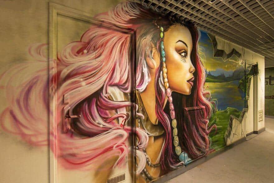 художники разрисовали стены студенческого общежития, фото 1