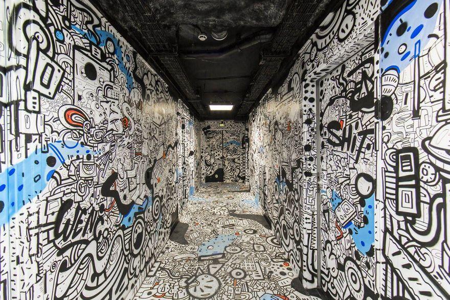 художники разрисовали стены студенческого общежития, фото 10